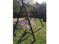 TP double wooden garden swing