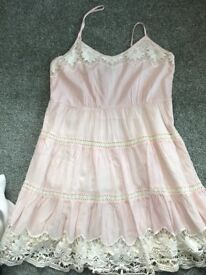 New pink and lace short dress