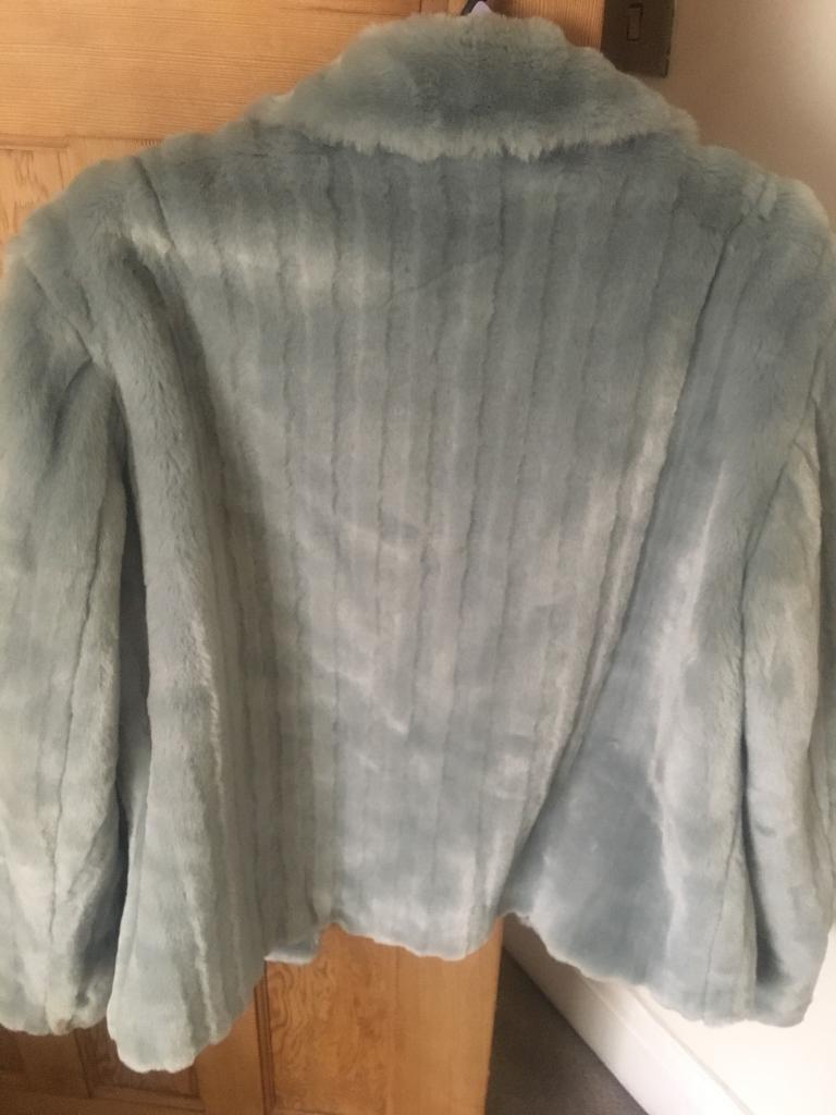 Ladies grey fur John Rocha coat 18