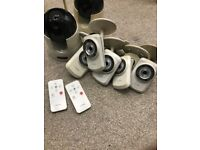 D-Link Wireless Cameras x 8 + Nightvision + PAN/TILT/ZOOM + RECORDER Unlimited warranty! over £700!!