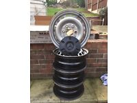 Mercedes sprinter full set of steel wheels excellent condition with hub caps,