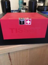 TISSOT PR100 TITANIUM SAPHIRE WATCH. IN BOX. FEW SCRATCHES RRP AROUND £300