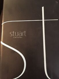 Stuart crystal decanter. Brand new in box.