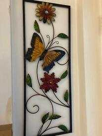 Butterfly & floral walk decor