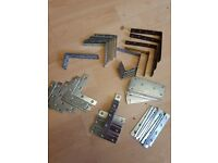 Various angle brackets and plates for sale