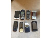 Job lot of 8 mobile phones - mainly Nokia
