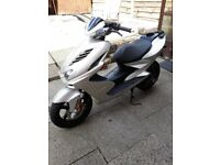 YAMAHA AEROX 2012 50CC in silver FOR SALE