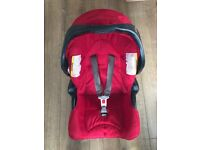 car seat and base, cot top changer, Vibrating Bouncer