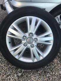 Set of four genuine Audi Q7 alloys tyres