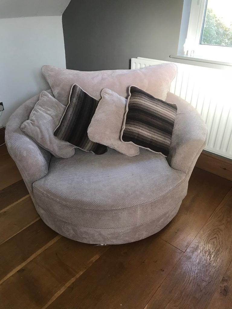 Large Round Swivel Chair In Lisvane Cardiff Gumtree