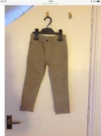 NEW grey corduroy trousers size 3-4years