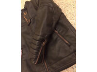 Boy Biker Leather Jacket. NEXT. Size 4-5 years. New with tags