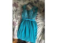 8/10 blue dress never worn