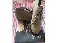 Ladies size 5 Barbour boots.
