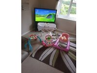 Bundle of baby walkers and bassinet with stand