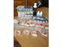 NSI Attraction Nail Powder, nail tips, practice fingers etc