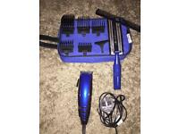 BaByliss for Men Hair Clippers in Blue with Accessories