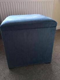 Velour blue storage box