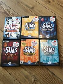 The Sims Game + 5 Expansion Packs