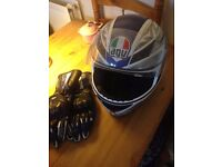 AGU Motorbike Helmet with Gloves