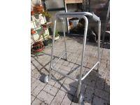 Lightweight Rigid Walker Walking Frame Zimmer With Wheels Mobility Aid