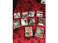 40gb playstation 3 with 10 games