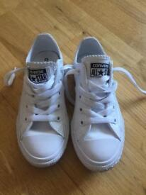 White leather converse - kids