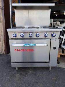 Poele Cuisiniere Imperial Electrique COMME NEUF / Electric 6 Burner Range Stove