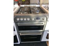 HOTPOINT 60CM ALL GAS COOKER IN SILIVER