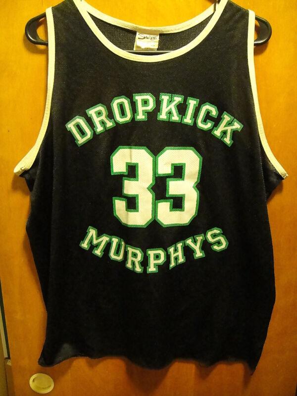 DROPKICK MURPHYS RARE Vintage LRG/ MED 33 Larry Bird TOUR Concert Tank Top Shirt