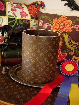 Ultra Rare Vintage Louis Vuitton Executive Desk Accessory Waste Trash Can Bucket
