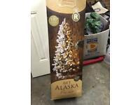 Christmas tree and garland pre lit