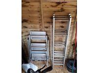 1 6ft extendable ladder 1 high step ladder