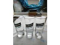 CARLING Half pint glasses