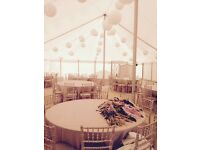 Wedding/event Tablecloths Ten Round Blush 120 inch Marquee