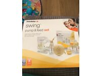 Medela swing pump & feed set
