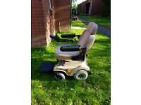 Powered wheelchair.