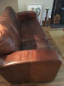 Tan 3 seater sofa