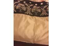Dunlem curtain black and gold