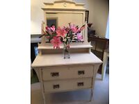 Dressing Table Shabby Chic , Vintage painted in Chalk Paint