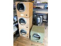"""Used 10"""" 3250M3 Acoustic Box Fans Hydroponics Air Flow Ventilation"""