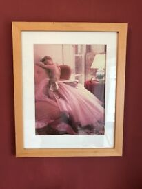 Large framed pictures