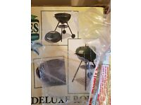 Brand new deluxe round kettle barbeque BBQ