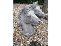 Pair of Garden Horses Heads