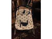For sale baby rocking crib with mattress, baby's bouncy chair