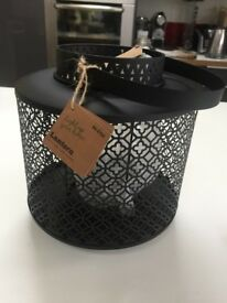 *** Lantern with Glass Candle Holder RRP £15 ***