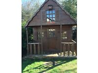 Two-storey wooden playhouse - NOW SOLD