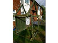Play house solid wood frame