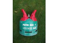 Calor Gas PATIO GAS bottle, 5kg. FULL. Ideal for barbecue, cooker camping etc. £20