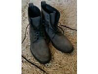 Grey suede lace up boots UK size 8
